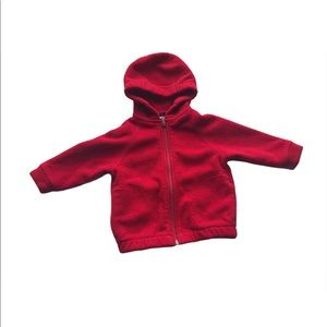 🧚♀4/$25 Lands' End Red Fleece Hooded Jacket